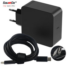 3.1 type-c 65W EU plug wall adapter laptop power charger For xiaomi air notebook for Macbook 12 13.3 for dell for Thinkpad X1(China)