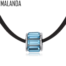 MALANDA Brand Luxury Chokers Necklaces For Women DIY Bead Crystals From Swarovski Rope Chain Statement Necklaces Wedding Jewelry(China)