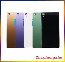 For Sony Xperia Z3 Back Glass Z3 L55 D6603 Back Cover Battery Door Cover Housing with sticker