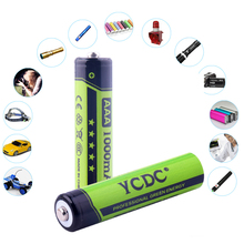 YCDC Rechargeable 1.2V/3.7V Li-ion 18650 AA AAA Batteries 3000mAh 2000mAh 1000mAh Low Self-discharge Cell For Strong-beam Torch(China)