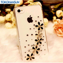 Luxury 3D 5 Wildflower Bling Crystal Diamond flower Case Cover For iPhone 6 6 plus 5 5g 5s 5c 4 4g 4s 3g 3gs phone cases