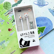 Little Cat mini 3.5mm plug In-Ear Stereo Sound Earphones with Microphone Earbud For Phone MP3 MP4 iphone samsung sony(China)