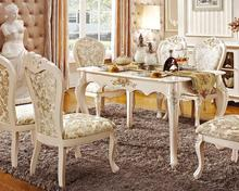 Latest design Newest design Royal dinning table set with chairs(China)