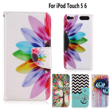 Phone Cover for fundas iPod Touch 5 Cover Case for coque iPod Touch 6 Touch6 Case + Stand Card Holder kryty shell(China)