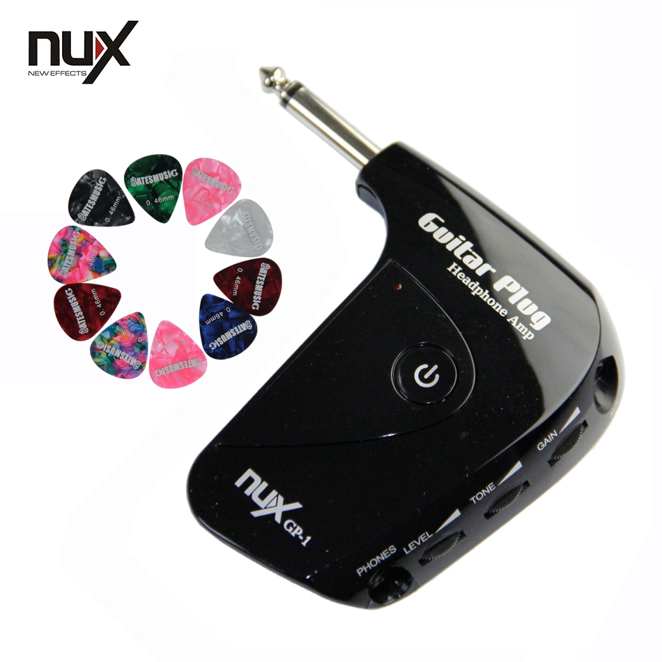 NUX GP-1 Portable Guitar Plug Headphone Amp with Classic Rock British Distortion <br>