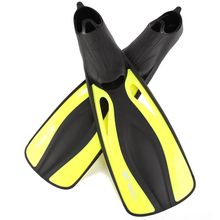 Diving Fins Super-Soft Adjustable Long Full Foot Scuba Snorkeling Swimming Fins Webbed Training Pool Aletas Nadadeira monofin(China)