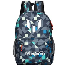 School Bag for Teenager Boys Rucksack Messi Backpack Black Footbal Bag Men Back Pack Travel Gift  Mochila Bolsas Kids Bagpack