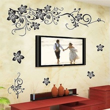 Removable Vinyl Wall Sticker Mural Decal Art Flowers and Vine Theme Home Decor