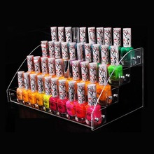 Wholesale Nail Polish Rack Cosmetics Display Shelf Acrylic Makeup Organizer Lipstick Frame 4 layers Nail Polish Display Stand