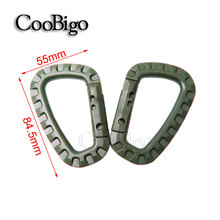 5pcs Plastic Climbing Carabiner D-Ring Key Chain Clip Hook Camping Buckle Snap Hook for Travel Tool Kit#FLC127-C(MilitaryGreen)