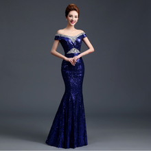 cheap blue sequin red sparkly long 2017 women elegant pageant tight prom party dresses sequins 2017 dress mermaid H2262