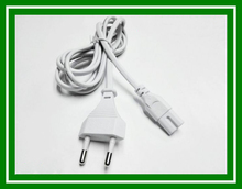 5PCS New Arrival white EU 2-Prong VDE plug power line Laptop AC Adapter Power Cord Cable Lead 2 Pin 1.5m wholesale