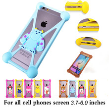 Cute Cartoon Batman Spongebob hello kitty Silicon phone Cases Cover for Vodafone Smart Mini 7 ultra 7 for Wexler.ZEN 5.5s LTE(China)