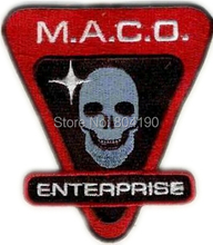 "4"" Star Trek II M.A.C.O. Enterprise Emblem Kirk sew on/ iron on patch Fashion Comic TV Movie Film Wholesale Free Shipping(China)"
