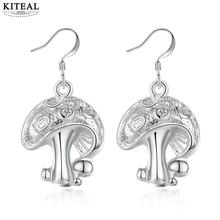 KITEAL Best Gift silver color Perfume women earring Small mushroom personality ear cuff jewelry accessories(China)