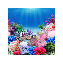 "9099 23.3"" x 60"" Double Sided Aquarium Decoration Colorful Plant/Green Grass Fish Tank Background Picture Poster Wall Decor"