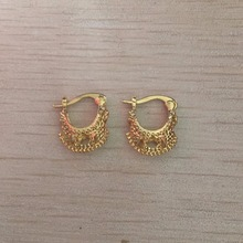 Fashion New small Gold color Basketball wives Hoop Earrings for Women 2017 Girls Lady Gift Best Quality Jewelry cheap price