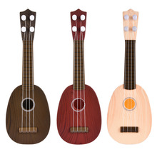 Simple Design Hawaii Three-strings Cool Ukulele 36CM Kids Round Small Guitar Useful Music Instrument Support Musicial Habbits