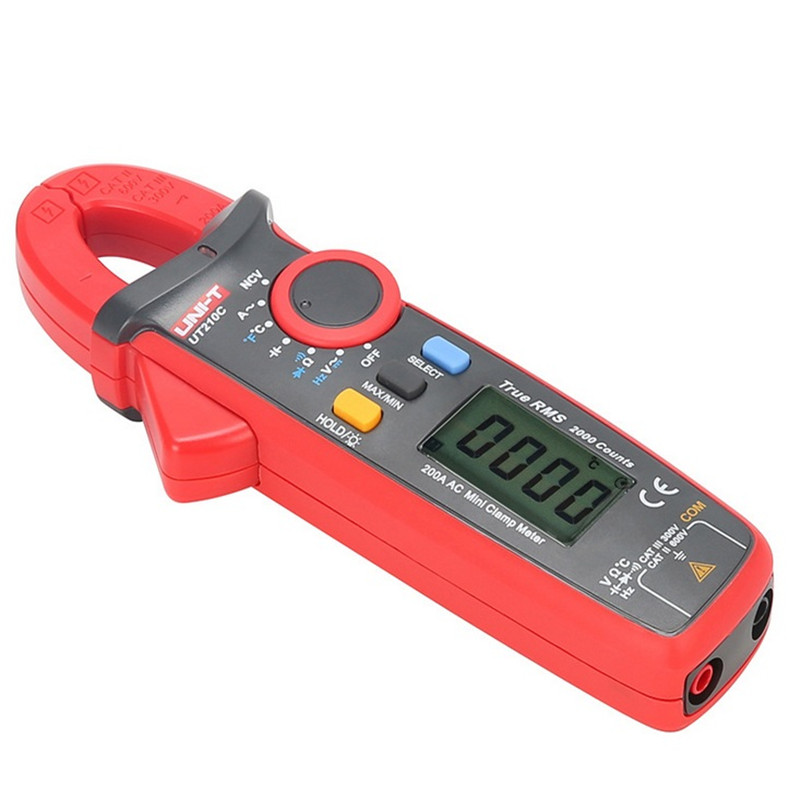 UNI-T Clamp Meters UT210C digital clamp meter True RMS Auto-Range clamp meter ac dc Temperature Test clamp meter multimeter<br>