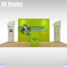 10ft Trade Show Booth High Quality Portable Tension Fabric Pop Up Display Exhibition Solution,Advertising Screen Banner Stand