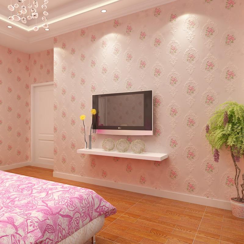 beibehang European Modern Floral Embossed Wallpaper for TV Background papel de parede 3D Wall Paper For Living Room Desktop roll<br>