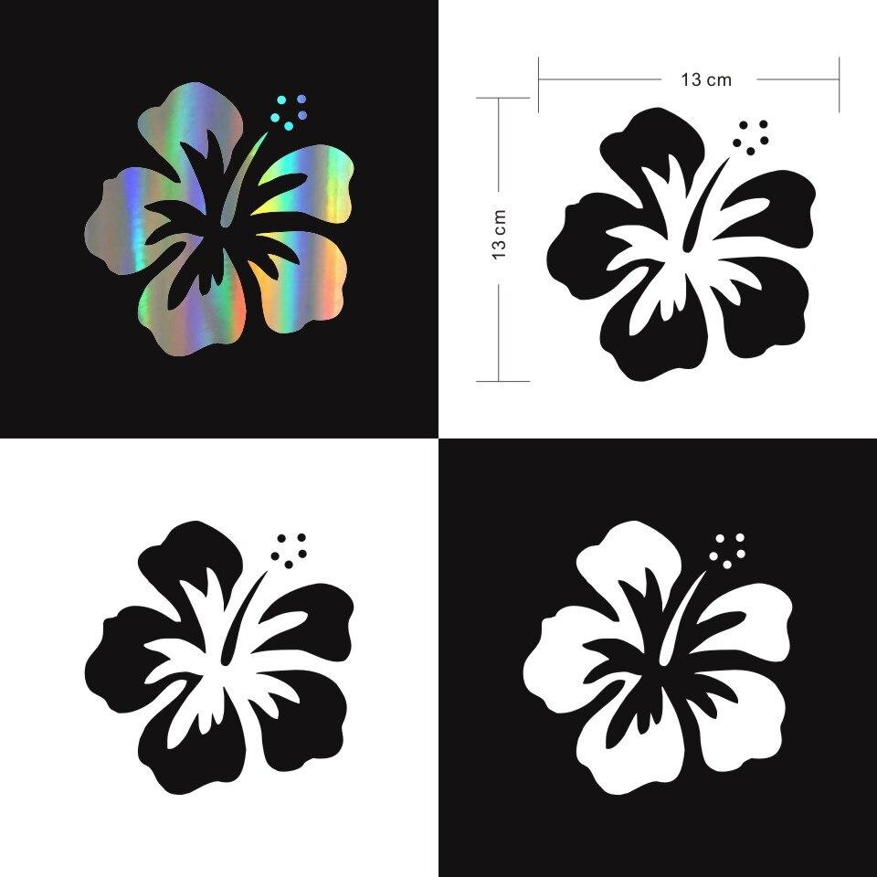 "2 Hawaiian Hibiscus Vinyl Decal Car bumper sticker window set 3 /"" flower"