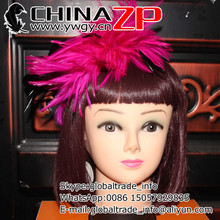 Top Manufacturer CHINAZP Factory Fantastic DIY Decoration Dyed Hot Pink Stripped Hackle Spray(China)