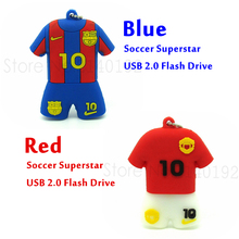100% Real Capacity football Shirt Clothes shaped Usb Flash Drive 4GB 8GB 16GB 32GB Pen Drive Pendrive with metal chain