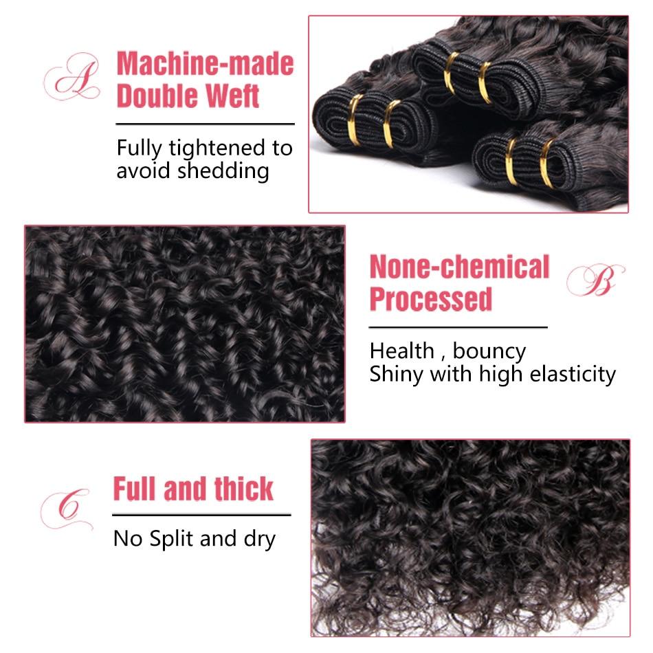 Indian Virgin Hair Curly Hair Weave Bundles GEM BEAUTY SUPPLY Hair Human Hair Extensions 10″-28″ Natural Black 1B Free Shipping