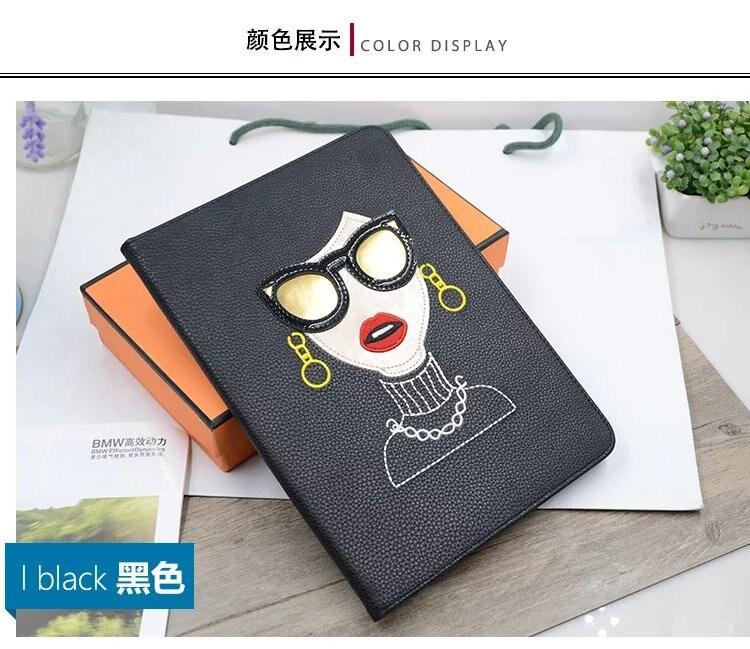 For Apple ipad Mini 1 2 3 Mini2 Mini3 7.9 Tablet case Flip Cover Fashion Unique design Star Same Style Glasses Modern Ladies<br><br>Aliexpress