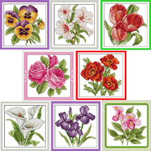 flower of happiness Counted Cross Stitch Diy 11CT 14CT Cross Stitch Set Wholesale Cross-stitch Kits Embroidery Needlework WR975