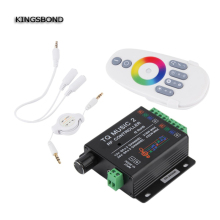 DC12V 24V 18A 6x3A TQ Music2 Controller LED RGB Music Sound Sensitivity Controller with RF Wireless Remote for RGB LED Strip(China)