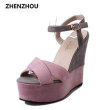 Women's shoes, summer sandals, high heels, wedge heels, color shoes, sexy, British loafers, XL07