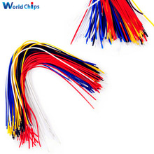 100Pcs Double Head PCB Solder Cable 20CM Breadboard Fly Jumper Wire Cable Tin Conductor 5 Color(China)