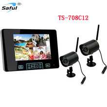 Hot 7 inch TOUCH KEY TFT LCD Wireless Surveillance camera system with integrated video Surveillance recorder Security Home