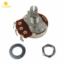 FLEOR 10pcs A250K Full Size Bass Guitar Pots Potentiometer Short Split Shaft Guitar Audio Tone Switch Control with Tip(China)