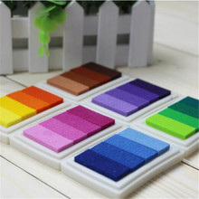 1pcs 6style Inkpad Ink Stamp Pad Colorful Cartoon Craft Inkpad Set For DIY Funny Work Stamps Sealing Decoration Stamp