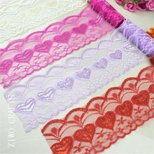5 yards / series of new products 75 MM wide lace DIY embroidery embroidery network lace trimming fabric ribbon sewing decoration