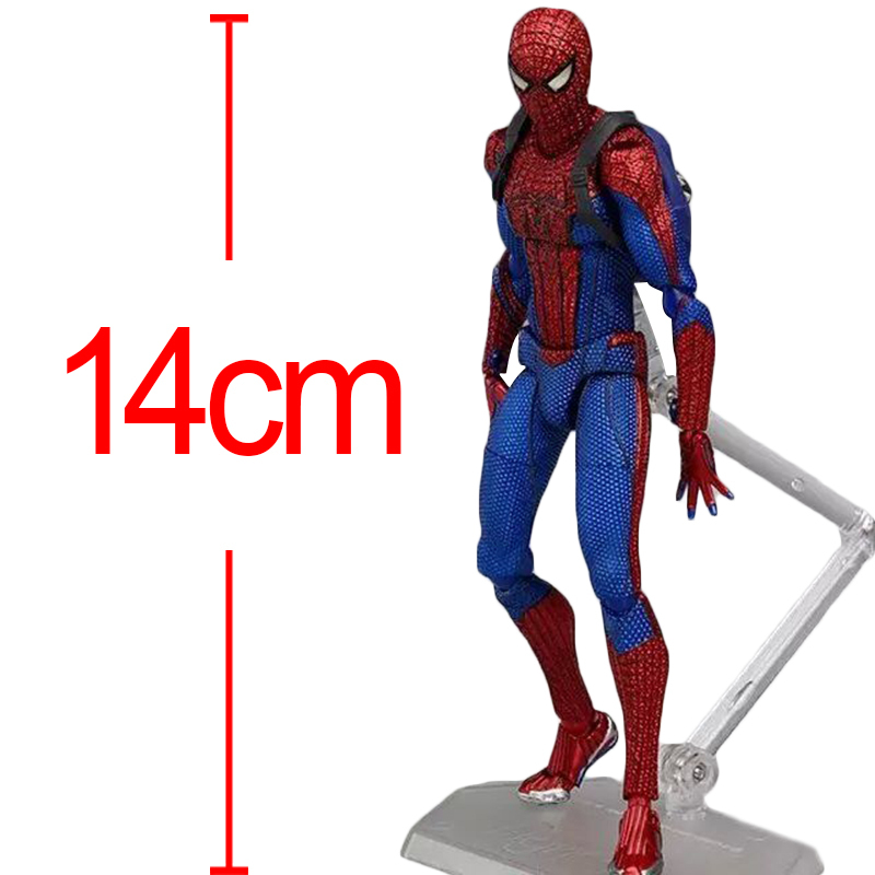 Anime Spiderman The Amazing Spider man Figma 199 PVC Action Figure Collectible Model Toy Doll for children gift 14cm Brinquedos<br><br>Aliexpress
