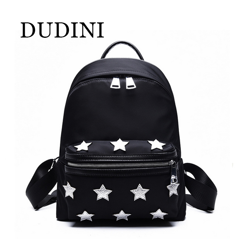 DUDIN New Arrival Unisex Backpacks Stars Pattern Side Buckles Black/Gray Hanging on Stroller Protable Printing Backpacks<br><br>Aliexpress