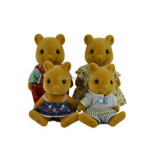 Limited Collection Sylvanian Families squirrel Family 4pcs Parents & Kids Set New without Box(China)