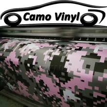 Car Styling Digital Pink Camo Vinyl Wrapping Pixel Camouflage Car Wrap Vinyl Sticker Film Car Body Covers Air Bubble Free(China)
