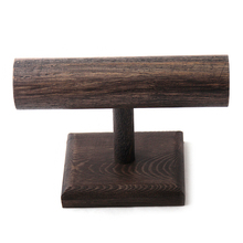 MOODPC Free Shipping Wood Display T-BAR Watch/Bracelet Jewelry Display Stand Holder,Fashion Jewelry Display(China)