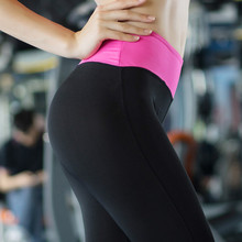 Buy 2017 Elastic Fitness Workout Sporting Leggings Women Solid color Fitness High Waist Slim Trousers Leggings Slimming Pants S for $7.50 in AliExpress store