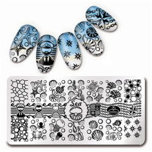 12*6cm Nail Art Stamp Template Sea Shell Starfish Design Image Plate L012(China)