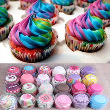 Lovely Useful 100 pcs/lot Cooking Tools Grease-proof Paper Cup Cake Liners Baking Cup Muffin Kitchen Cupcake Cases Cake Mold