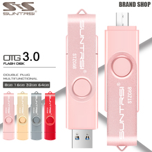 Suntrsi OTG 32GB USB 3.0 Flash drive For Smart Phone High Speed 3.0 USB Stick 64/32/16/8GB OTG Pendrive(China)