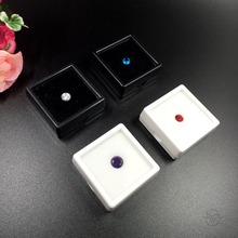 Hot Sale Black and White 4x4cm 10pcs/lot Diamond Display Box Plastic Diamond Case Stone Box Gem Storage Carrying Organizer