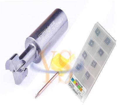 T Slot End mill holder ATS C32-32 -14-120 L and 10pcs Hitachi RPMT080204 inserts<br><br>Aliexpress