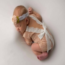 Newbron Baby Rompers Popular Newborn Baby Full Moon Clothes Hundred Days Photography Clothing Baby Summer Lace Climbing Clothes(China)